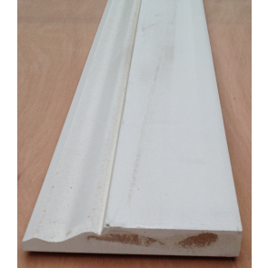 4.4mtr 18mm x 168mm White Primed Ogee MDF Skirting Board