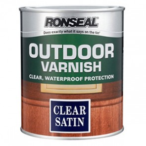 2.5 Litre Satin Ronseal Outdoor Varnish