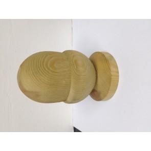 90mm Tanalised Acorn Post Finial