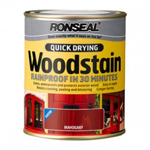 250 ml Mahogany Ronseal Woodstain Quick Dry Satin