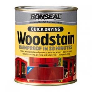 250 ml Teak Ronseal Woodstain Quick Dry Satin