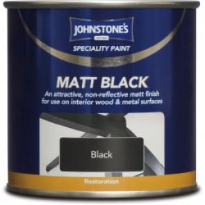 750ml Johnstones Matt Black Paint