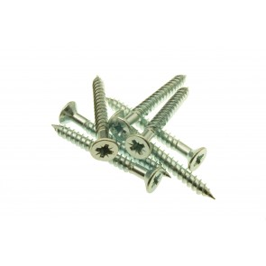 10 x 4 Twin Thread Woodscrews Zinc Plated Pozi