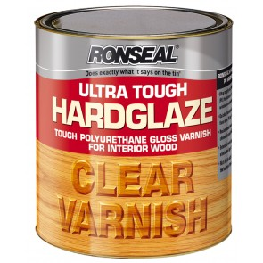 750 ml Ronseal Ultra Tough Hardglaze Internal Clear Gloss Varnish