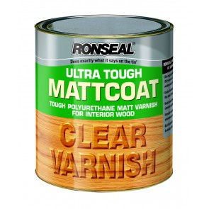 250 ml Ronseal Ultra Tough Internal Clear Mattcoat Varnish