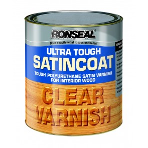 750 ml Ronseal Ultra Tough Internal Clear Satincoat Varnish